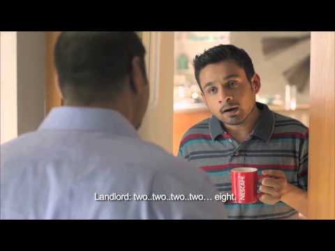 Stammering Comedian - Nescafe 2014 latest TVC