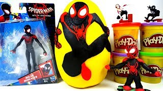 Gigante Uomo Ragno(Spider-Man Into The Spider-Verse Miles Morales)Play Doh Sorpresa Uovo Animazione