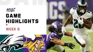 Eagles vs. Vikings Week 6 Highlights | NFL 2019