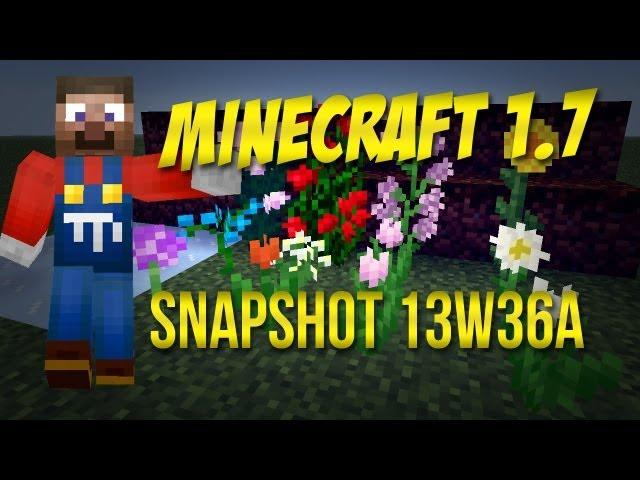 Minecraft 1.7   Snapshot 13w36a - čarovná udica, ryby, kvietky a nové biómy