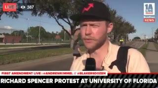 Richard Spencer #nonazisatUF protest Gainesville