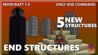 END STRUCTURES in only one command! [Minecraft 1.10]