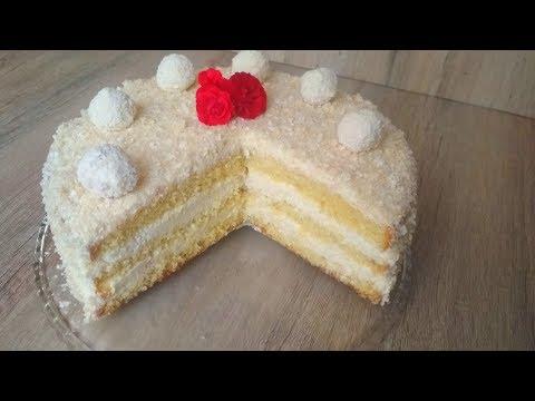 Самый Кокосовый Торт. Нежный, ароматный и невесомый! The Most Coconut Cake. Gentle and weightless!