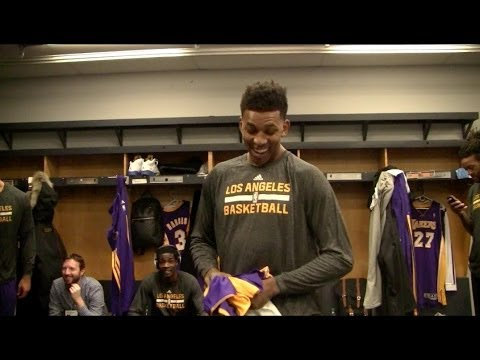 Lakers Behind The Scenes Video: Xavier Henry Throws Nick Young's Jersey In Trash
