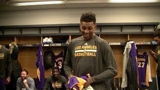 Lakers Behind The Scenes Video: Xavier Henry Throws Nick Young
