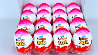 Kinder Joy Surprise eggs hellokitty and other cool surprises unboxing for girls