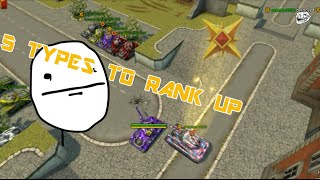 Tanki Online - 5 types of rank up