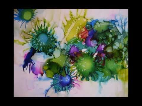 Painting With Alcohol Inks On Canvas