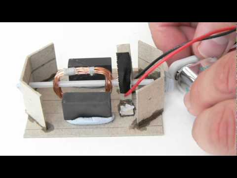 Homemade electric motor youtube for How to make a electric motor