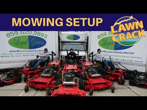2017 Lawn Care Setup | Ultimate Lawn Mowing Set Up | Converted Uhaul with Fabricated Gates