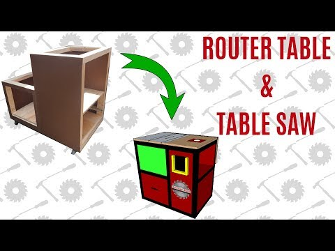 Homemade Table Saw/Router Table Cabinet -  Part 1
