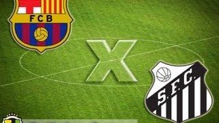 Barcelona 8 x 0 Santos - Estreia de Neymar no Barça 02/08/2013 - Jogo Completo
