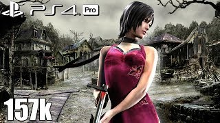 Resident Evil 4 PS4 Pro Mercenaries Village 157k Ada 60fps