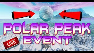 FORTNITE - POLAR PEAK EVENT - ICE BALL SPHERE HOVERING OVER INFINITY BLADE - LIVE WATCH