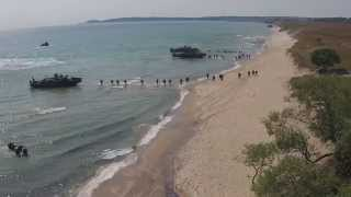 BALTOPS 2015 Amphibious Landing Assault Exercise on the Beaches of Sweden
