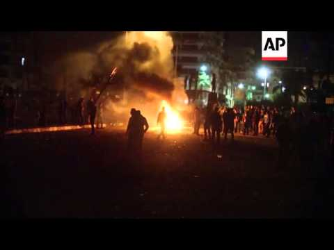 Fourth day of clashes between protesters and police