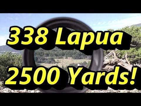 Shooting 2500 Yards 1.43 miles!! Savage 110BA 338 Lapua