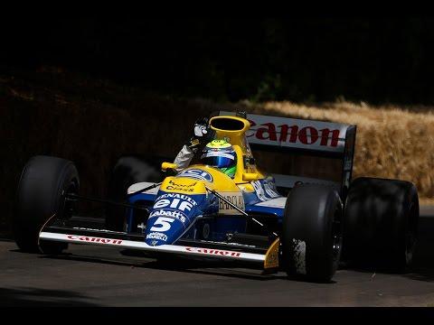 Felipe Massa drives the 1990 Williams FW13B at Goodwood