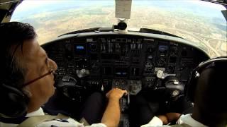 Citation V: turbulence during landing. Cockpit view!