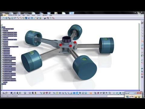 Catia V5 Tutorial Aircraft Engines Working of Radial Engine Mock up
