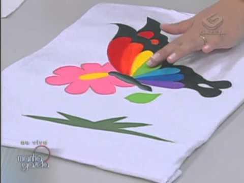 Pintura em camiseta — Artesanato — Acrilex