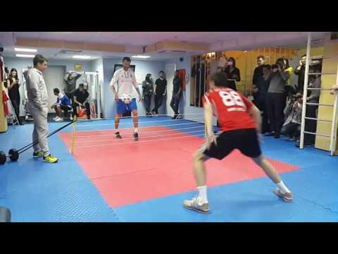 Ярмоленко против Милевского на турнире по теннисболу