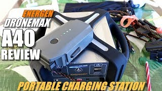 ENERGEN DroneMax A40 Portable Drone Charge Station Review - 40,000 mAh Beast!