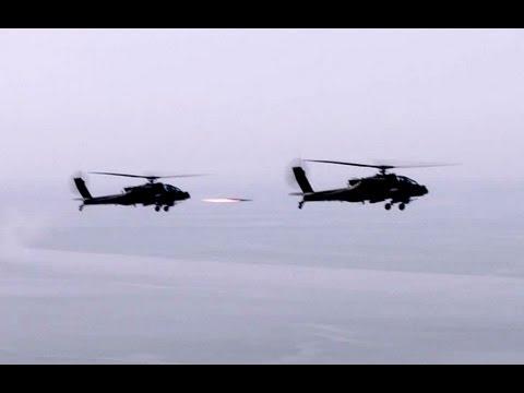 AH-64 Apache Pilots Fire Hellfire Missiles in Korea