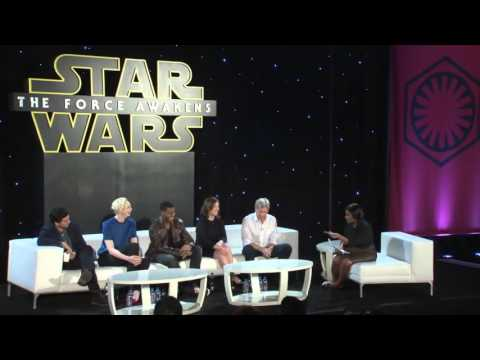 Star Wars The Force Awakens's Harrison Ford, Oscar Isaac, Gwendoline Christie, John Boyega