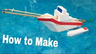 How to Make a Rubber Band Boat - Powered Ship - Tutorial