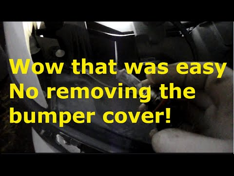 How to replace the headlight on a 2010 Chevy Tahoe without removing the bumper cover