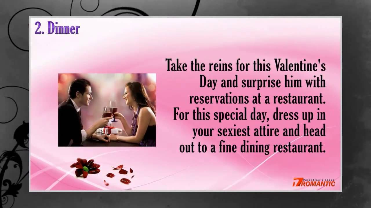 Romantic valentines day ideas for him romantic ideas for for Romantic ideas for valentines day
