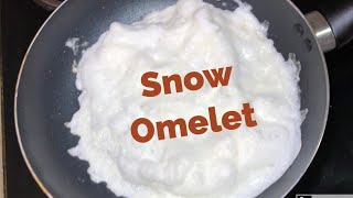 Foamy Snow Omelet - How To Prepare Perfect Fluffy Foamy Omelet