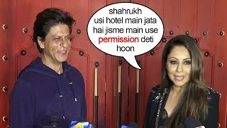 Shahruk & wife Gauri Khan's funny interview together showing who's the boss at home