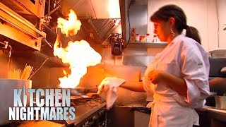 Clueless Owner Has NO IDEA How To Work In A Kitchen | Kitchen Nightmares