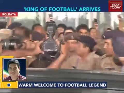 Brazilian football legend Pele arrives in Kolkata
