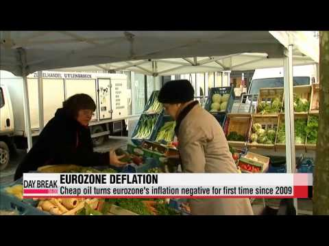 Deflation in eurozone becomes reality, as energy prices decline   유로존 물가상승률 마이너스