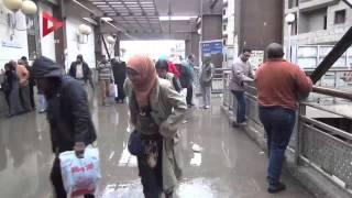 مياه الأمطار في شوارع وأنفاق القاهرة
