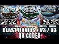 QR CODES BLAST JINNIUS, ELEMENTAL V3 E MAIS! [Beyblade Burst App] - ベイブレードバーストアプリ