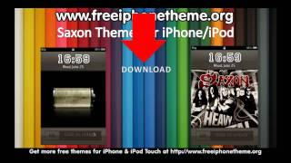 Saxon Heavy Metal Rock Theme for iPhone and iPod Touch