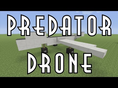 Minecraft Vehicle Tutorial - Predator Drone