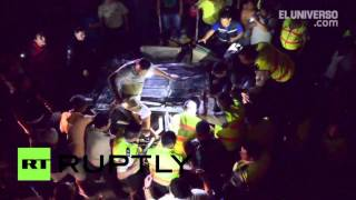 Ecuador: Massive earthquake destroys bridge in Guayaquil