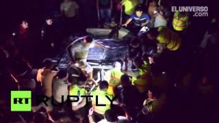 Ecuador: Massive earthquake destroys bridge in Guayaquil