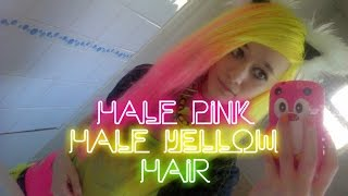 Dying My Hair Half Pink, Half Yellow