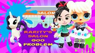 Rarity's Hair Salon Mystery!!!! Featuring Curious QT! | My Little Pony Adventures