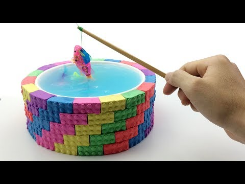 Learn Colors Kinetic Sand Rainbow Pool Duck VS Fishing Surprise Toys How To Make For Kids