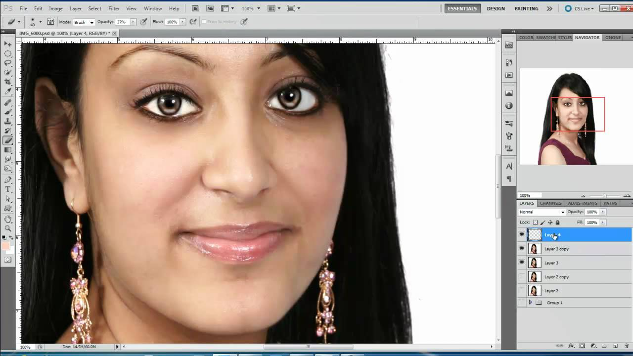 Photoshop hindi Tutorial, Episode #8, Portrait retouch and ...