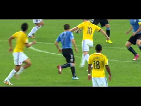 James Rodriguez Goal vs Uruguay - Best goal of world cup 2014