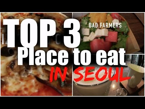 (ENG)My top 3 restaurant/cafe/food IN SEOUL