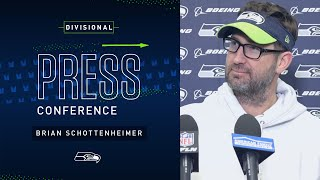 Offensive Coordinator Brian Schottenheimer Divisional Press Conference | 2019 Seattle Seahawks